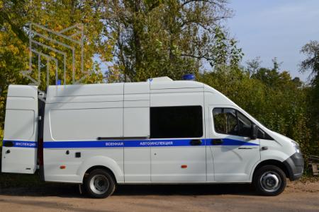 Передвижной пункт технического контроля транспортных средств для Военной автоинспекции (ППТК ТС)