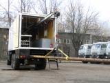 Автолаборатория МПЗ-ЛПС. Грузоподъемное устройство для погрузки/выгрузки перфораторов (длина труб до 6 м) и других грузов